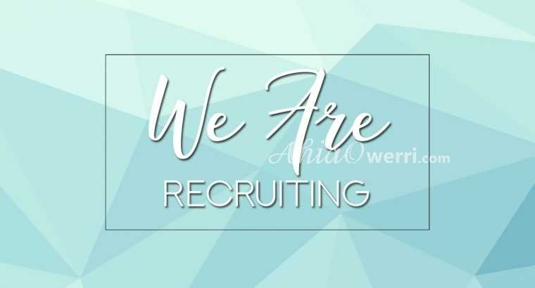 We Are Recruiting!!!