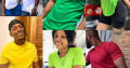 Unisex Plain t-shirts and female footwears